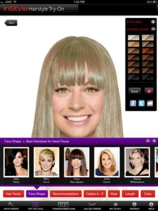 The Top Beauty Style Apps That Give You A Total Makeover Try On Hairstyles Hair Colour App Try On Hair Color
