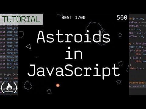 Code Asteroids in JavaScript (1979 Atari game) tutorial