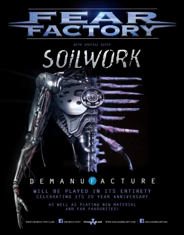 FEAR FACTORY To Kick Off US Demanufacture Tour