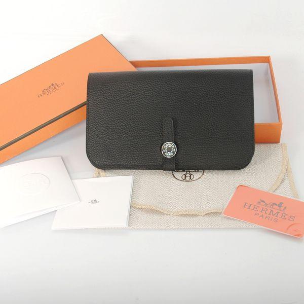 622ad46c763 Hermes Black Togo Veins Leather Passport Wallet $149.00   wallets ...