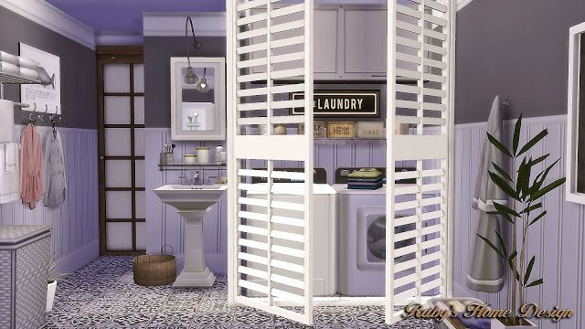 sims4 laundry room wall panels ruby s home design laundry rh pinterest com