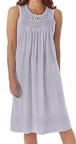 a1e942c34b EZI Womens Sleeveless Cotton NightgownlavenderXXLarge     Read more ...