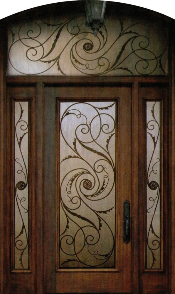 An Exquisite And Stylish Decorative Wrought Iron Front Door Insert Collection That Will Satisfy The Taste Of Every Individual Made From The F In 2019 Iron Front Door Wrought Iron Doors