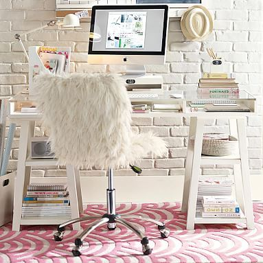 Pottery Barn Teen Customize It Acrylic Trestle Desk, Simply White