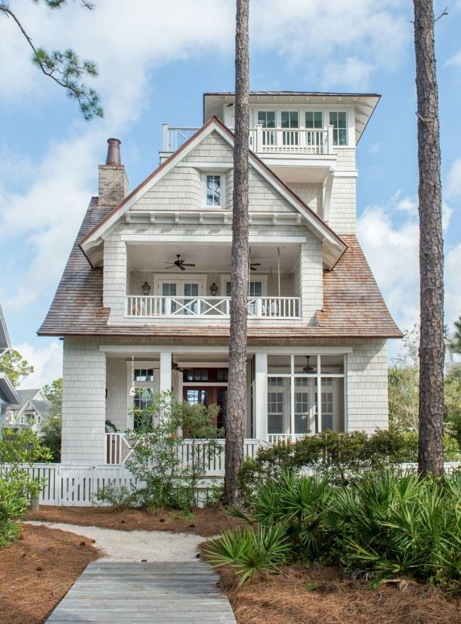 House Tour Watersound Coastal Charm Design Chic Dream Beach Houses House Exterior Vacation Home