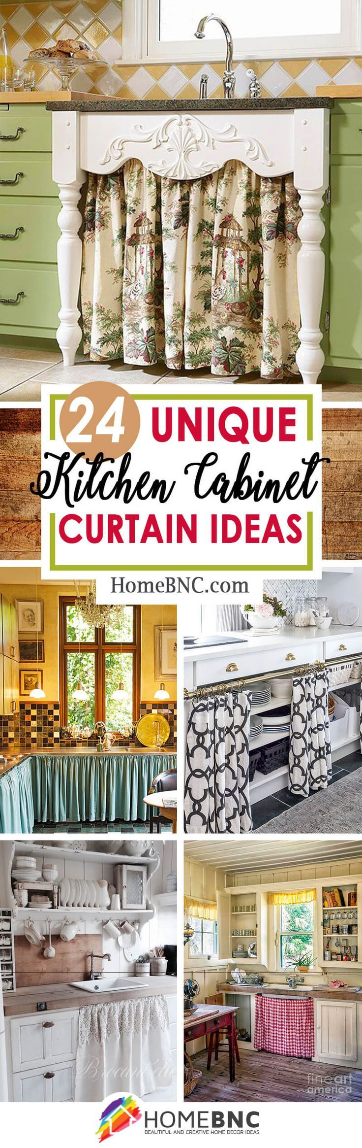 24 Unique Kitchen Cabinet Curtain Ideas For An Adorable Home Decor Style Home Decor Styles Kitchen Cabinets Kitchen Cabinet Styles