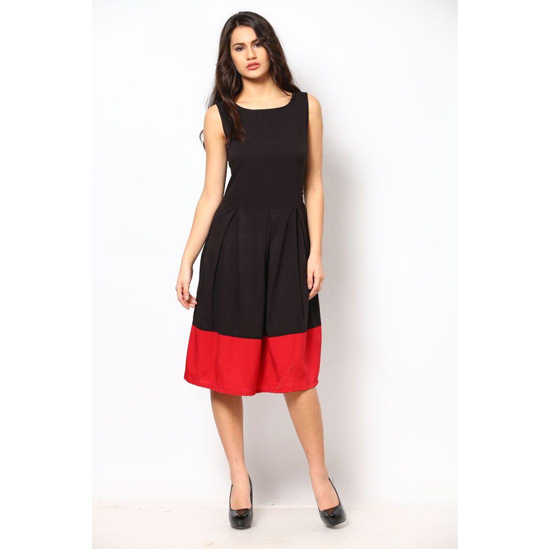 e85723cb7e0e5 Buy Eavan Black Red Dress @ Rs.1,699.00 # PartyDress ...