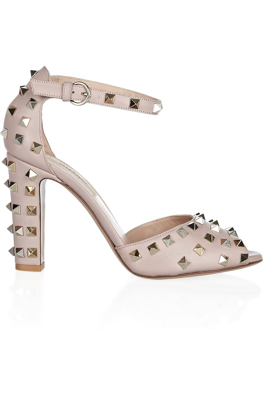 Valentino | Studded leather sandals | NET-A-PORTER.COM