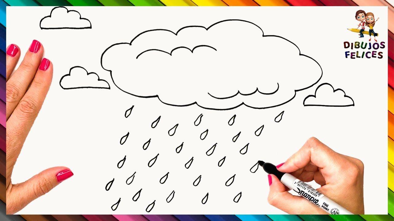 Como Dibujar La Lluvia Paso A Paso Dibujo De Nube Con Lluvia Dibujos De Nubes Como Dibujar Nubes