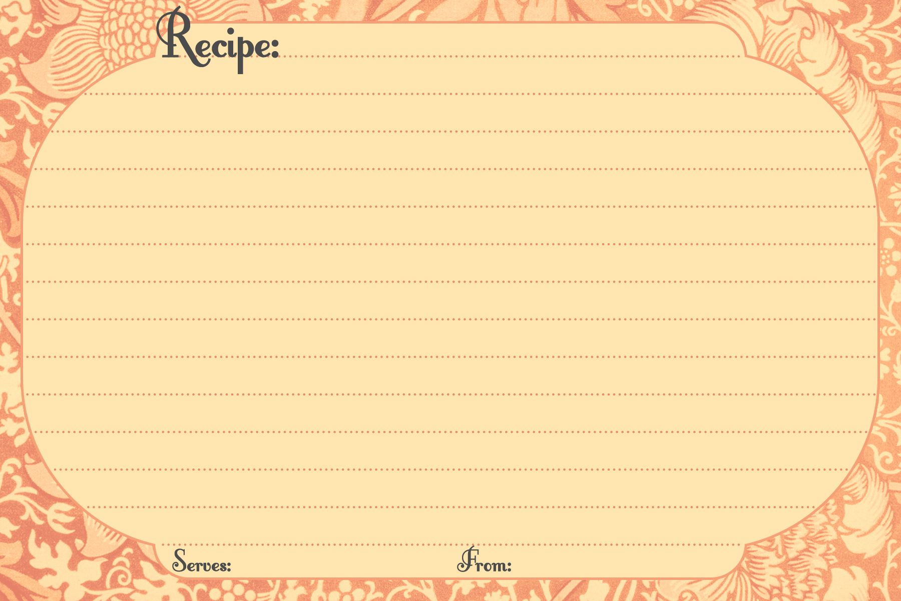 recipe template for microsoft word