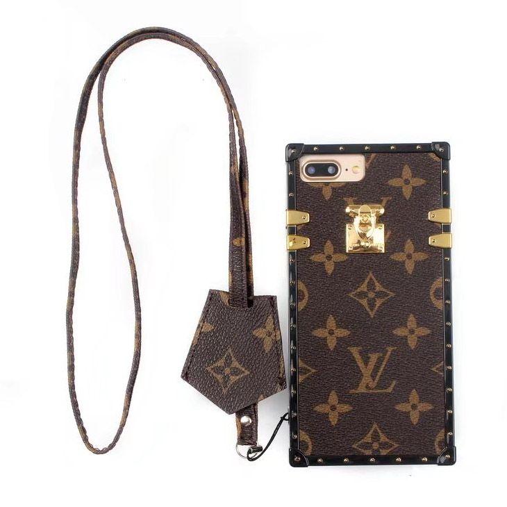 Louis Vuitton X Supreme Iphone Case For Iphone X 8 7 6s Plus Coque Brown Chanel Iphone Case Louis Vuitton Leather Wallet Case