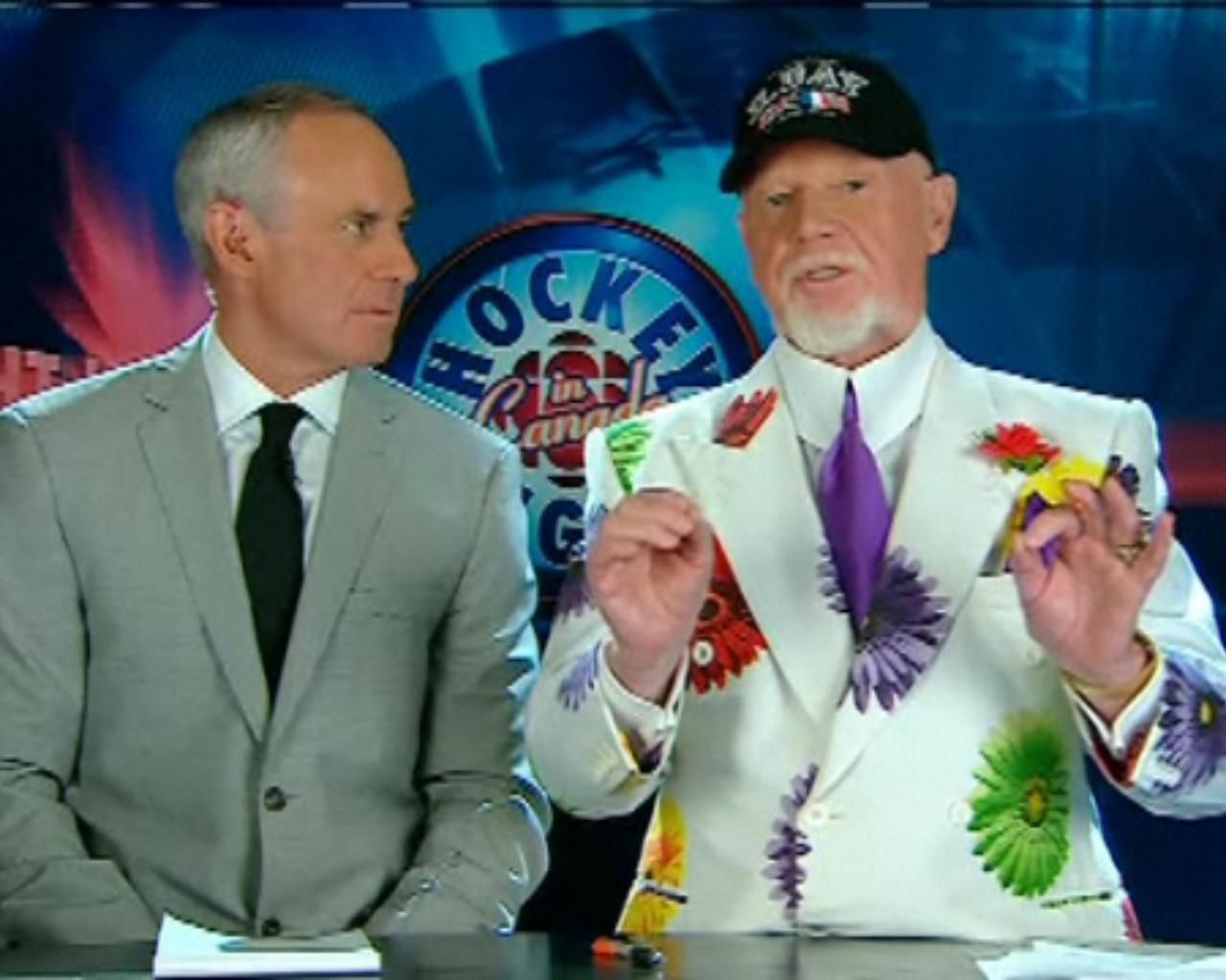 A Floral Print And Patriotic Chapeau For Grapes On June 6 CBC Way To Go