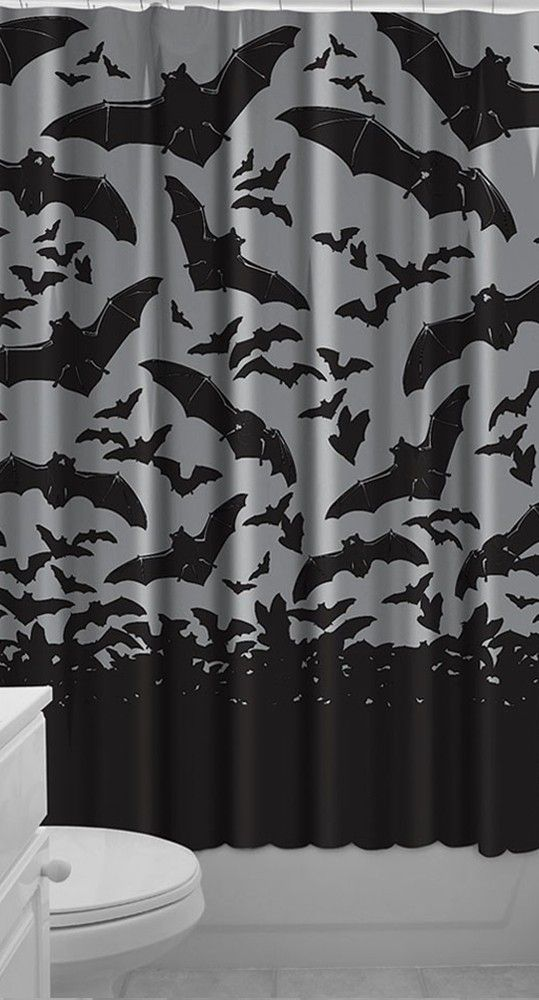 spooksville bats shower curtain blame