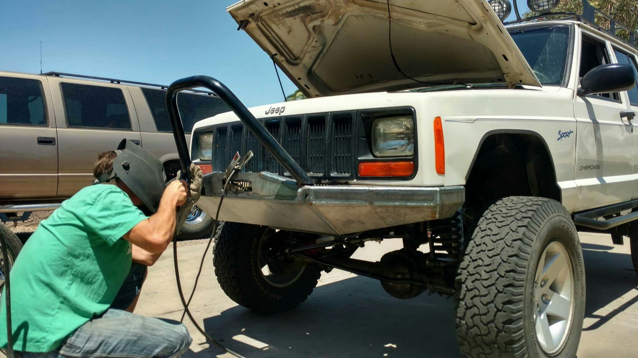 Xj Cherokee Diy Build Jeep Bumpers Diy Jeep Jeep Zj