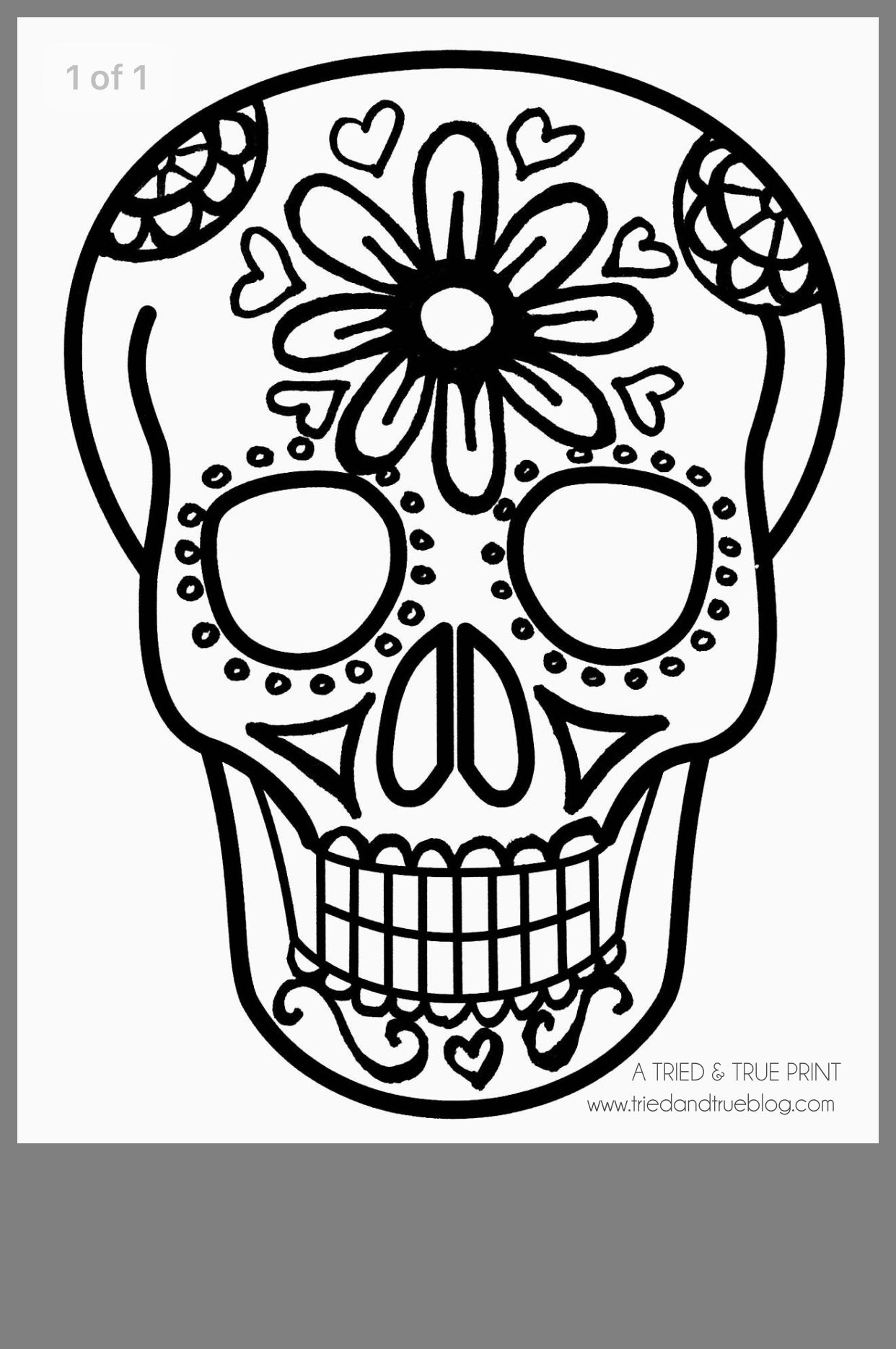 Pin By Tifany Chevez On Day Of The Dead Easy Skull