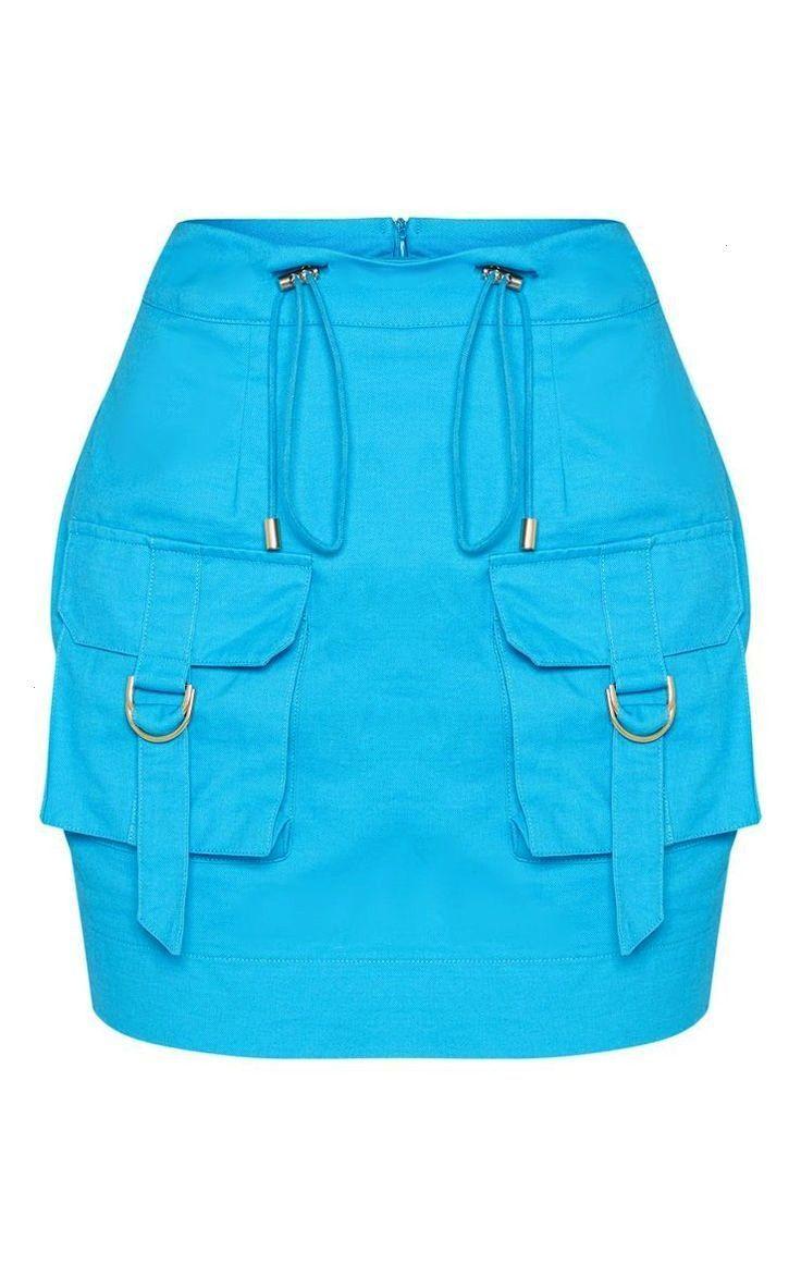 Blue Cargo Pocket Detail Mini Skirt  New In This Week  New In  PrettyL Bright Blue Cargo Pocket Detail Mini Skirt  New In This Week  New In  PrettyL Bright Blue Cargo Poc...