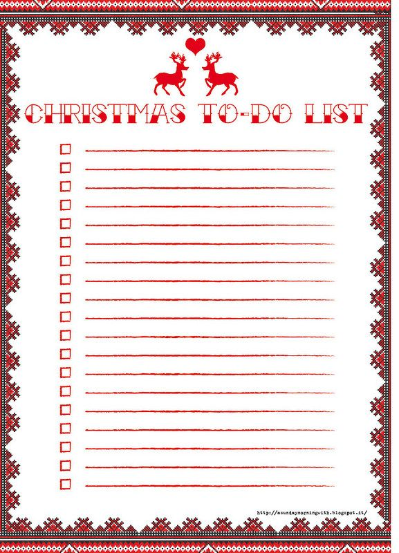 free printable christmas to do list