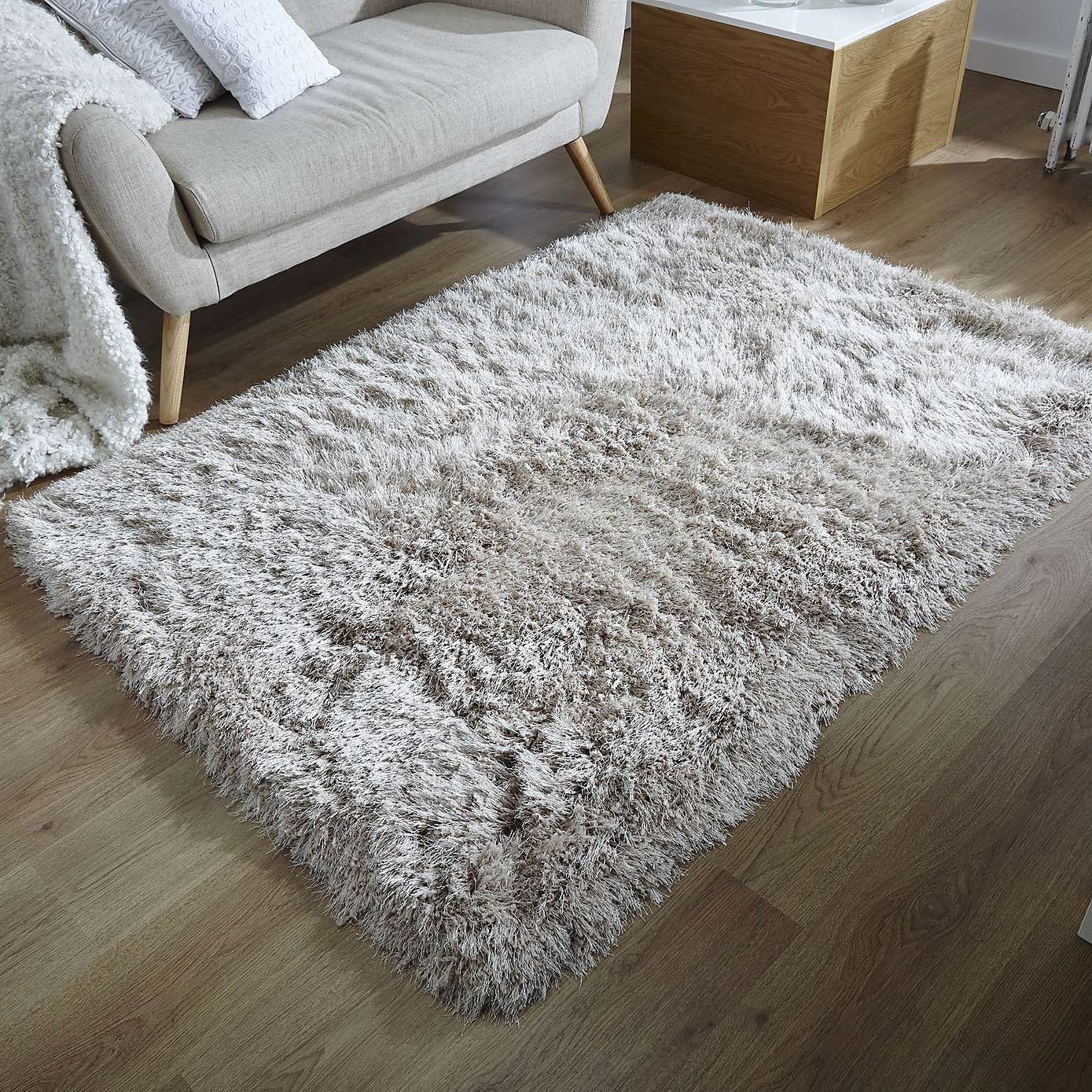 Gem Sparkle Natural Shaggy Rug Rugs In Living Room Living Room Color Schemes Room Color Schemes