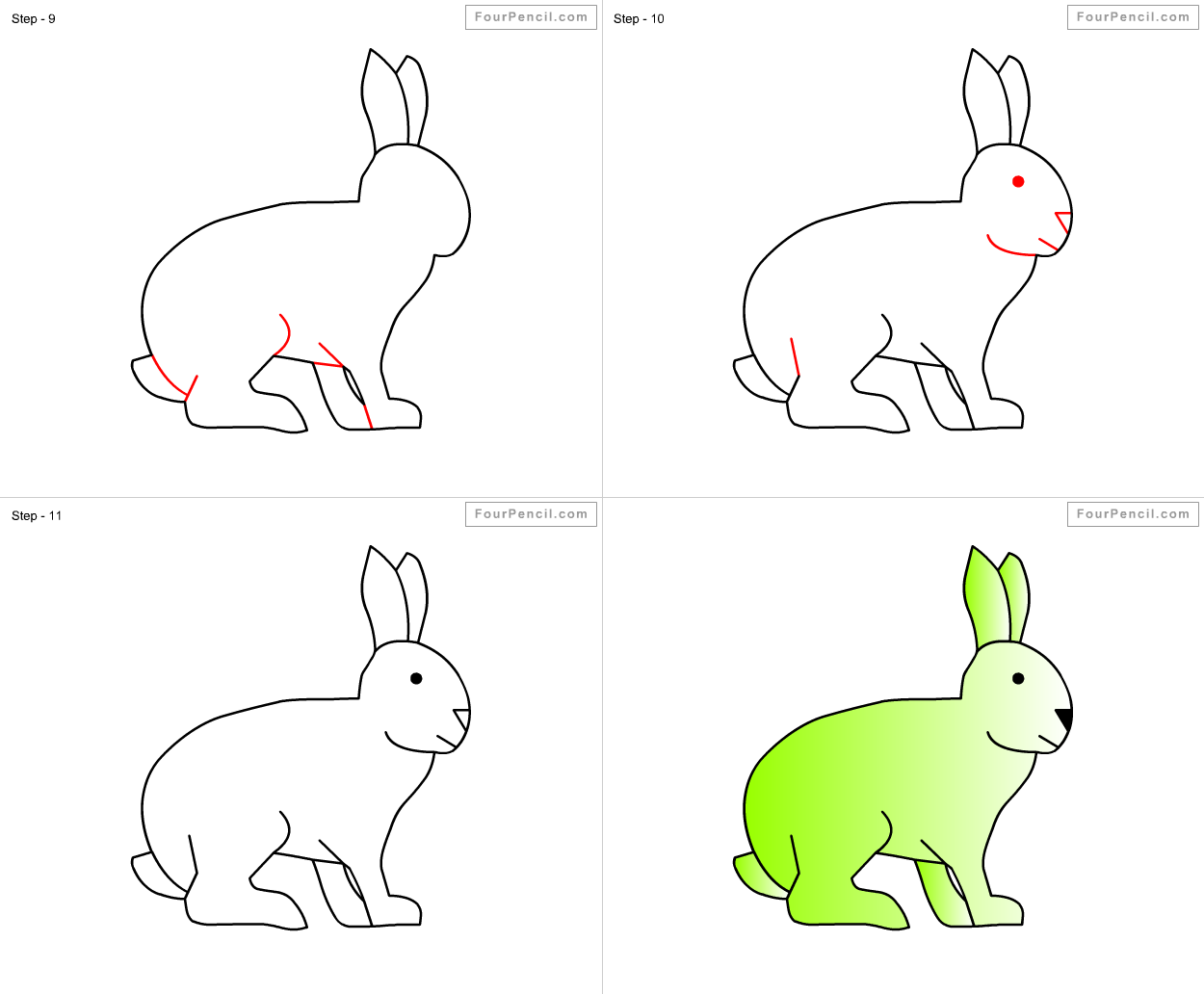 How To Draw Rabbit For Kids Step By Step Drawing Tutorial, Draw Rabbit For  Kids