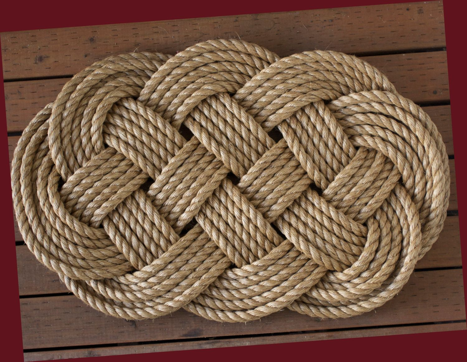 Nautical Welcome Mat Large Braided Rope Door Sailor Ocean Plait Celtic Knot Rug