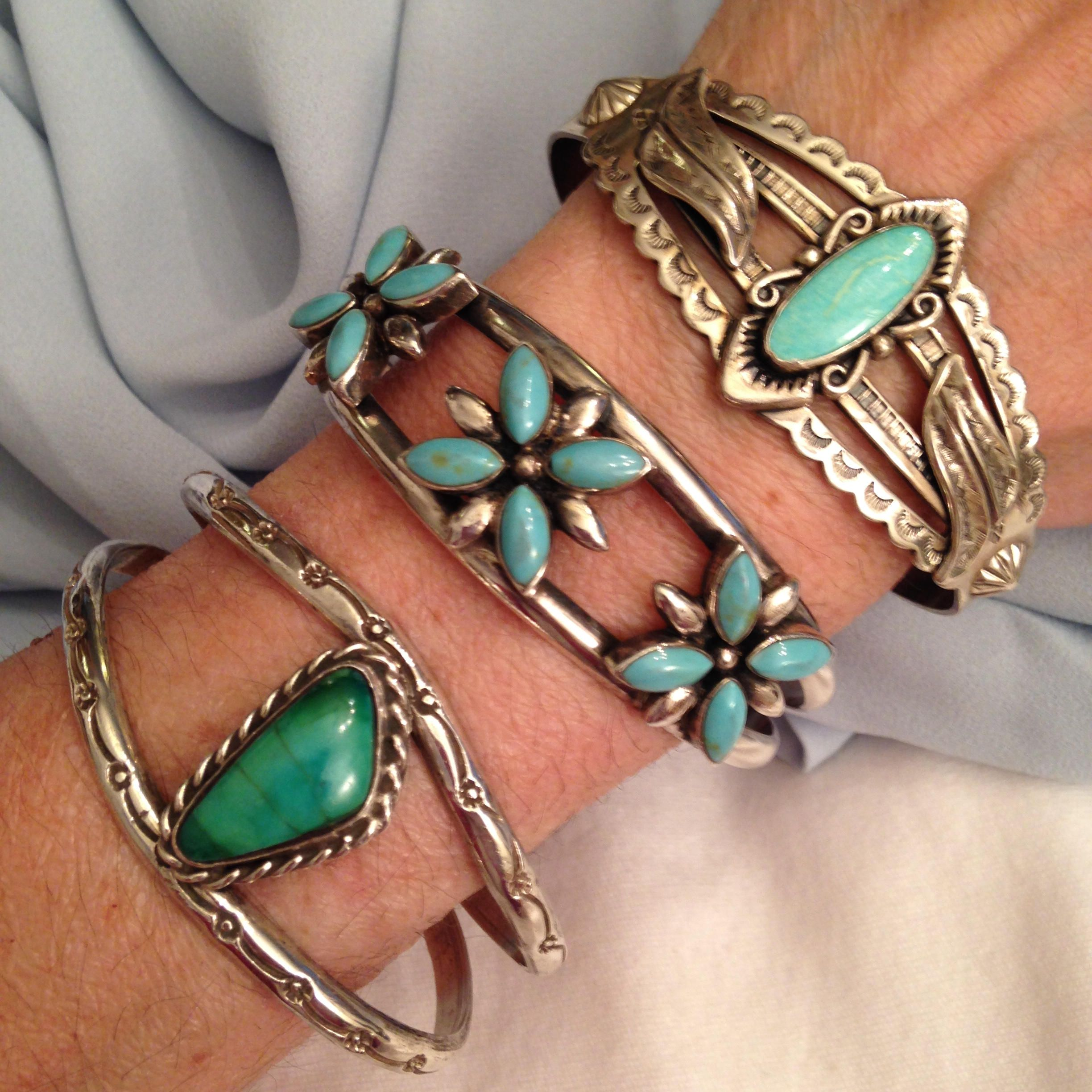 Wide turquoise navajo cuff double soldered silver bangle bands hand wide turquoise navajo cuff double soldered silver bangle bands hand stamped sun flowers native american symbols vintage southwest boho cuff buycottarizona Images