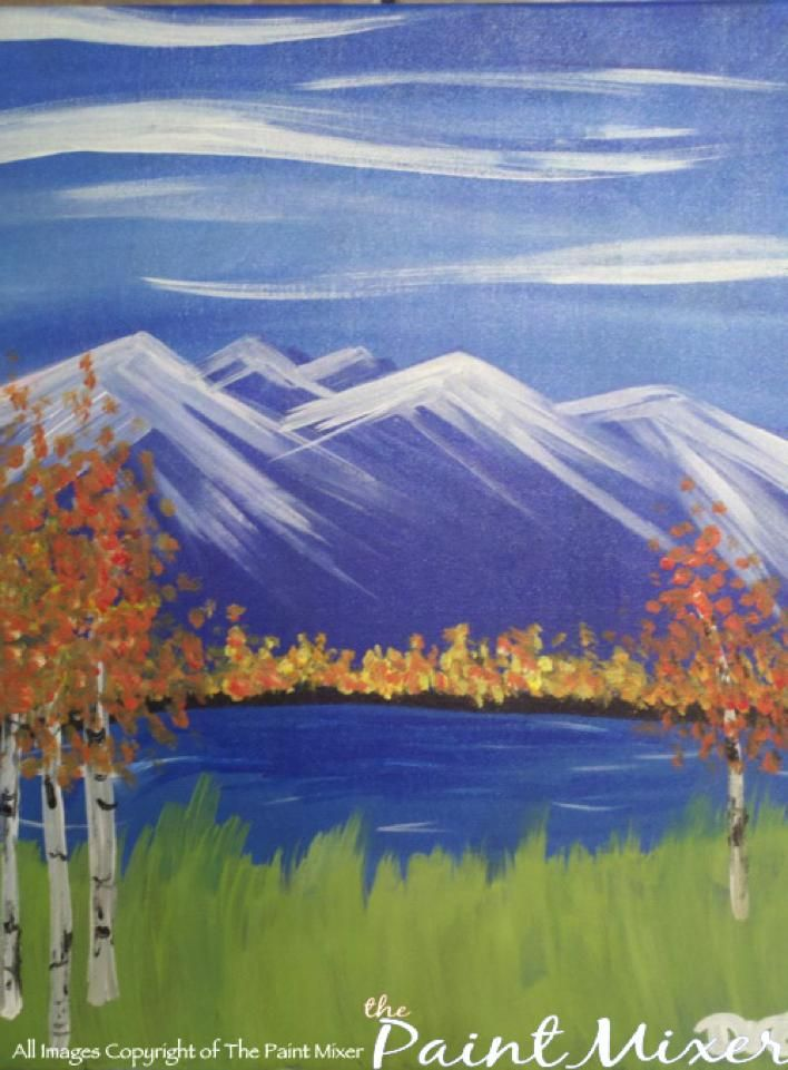 Mountains Simple Canvas Painting