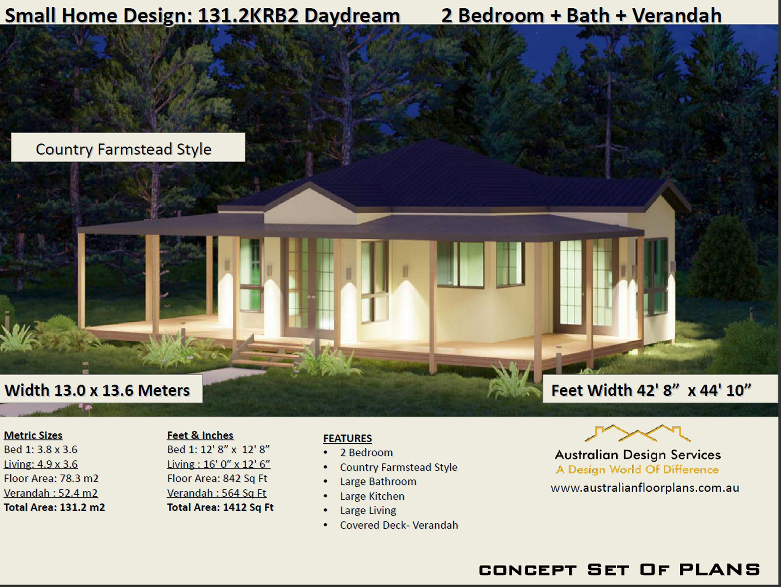 2 Bedroom Small Country Homestead House Plan 131 2krb2 In 2020 Cottage Style House Plans House Plans Small Country Homes