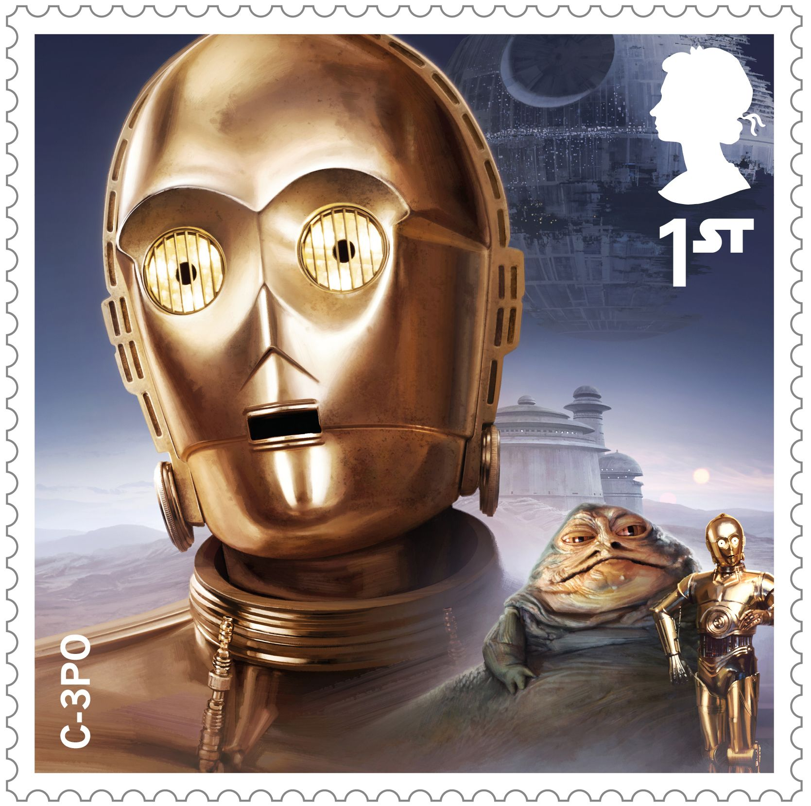 Star Wars Droids And Aliens 1st Stamp 2017 C 3po Filme