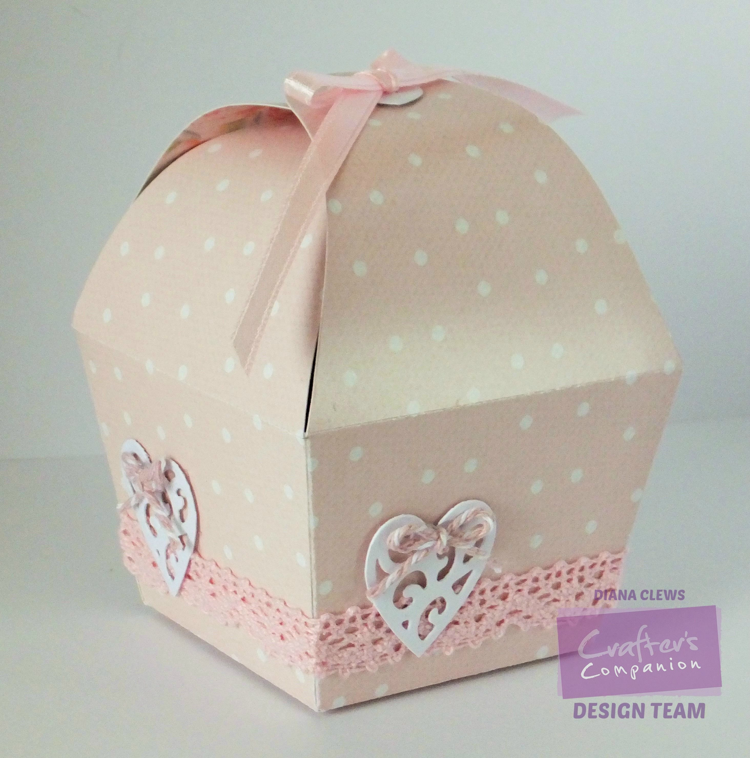 Diana Clews - Single Cupcake Favour Box template - Springtime double ...