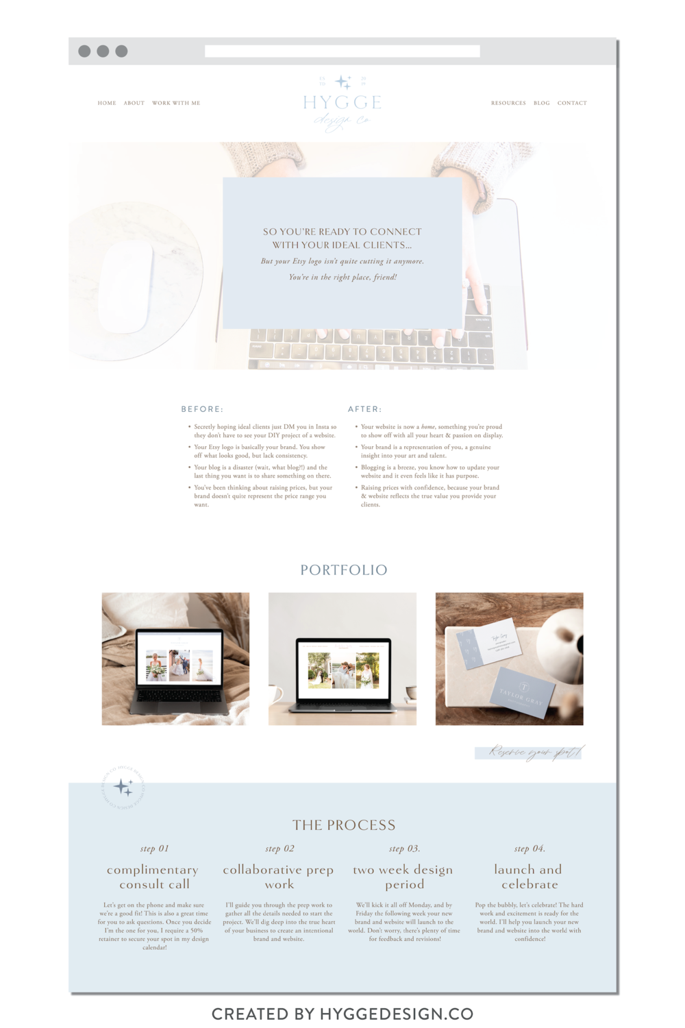 Hygge Design Co Brand And Website Launch Hyggedesign Co In 2020 Squarespace Web Design Website Design Inspiration Layout Web Layout Design