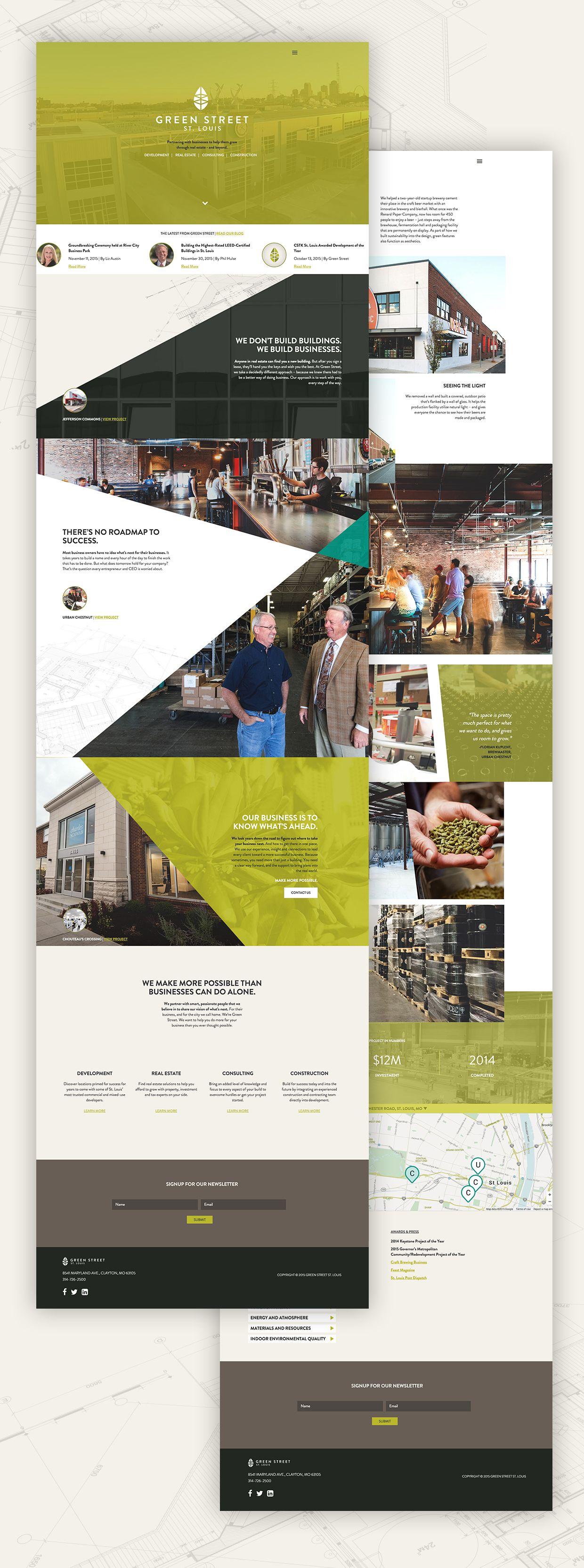 Building For The Future New Branding And Website For Green Street St Louis Green Street Street Brands Branding