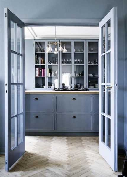 Light Blue Kitchen Cabinets | Modern Kitchen Paint Colors, Cool Blue Paint  For Wood Kitchen