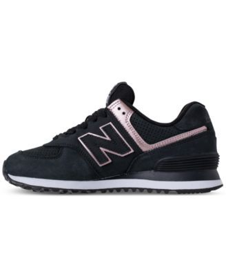 6ceed618f16e4 New Balance Women's 574 Rose Gold Casual Sneakers from Finish Line - Black 9