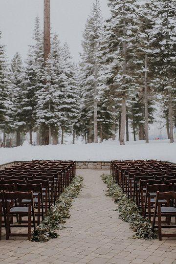 Winter Wedding Ceremony Lake Tahoe The Ritz Carton