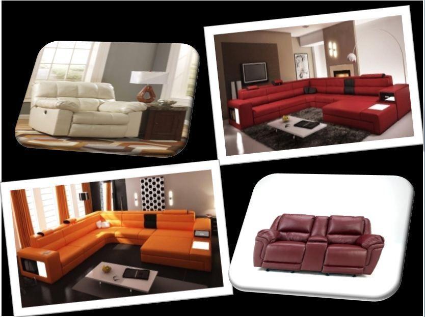 Furniture Polaris-Italian Bonded  Leather Sectional Sofa