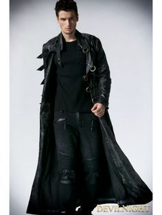 black-alternative-gothic-long-trench-coat-for-men.jpg (450×597 ...