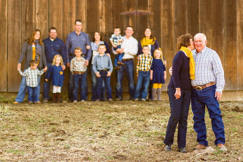 Grandparents with whole family Family Portraits
