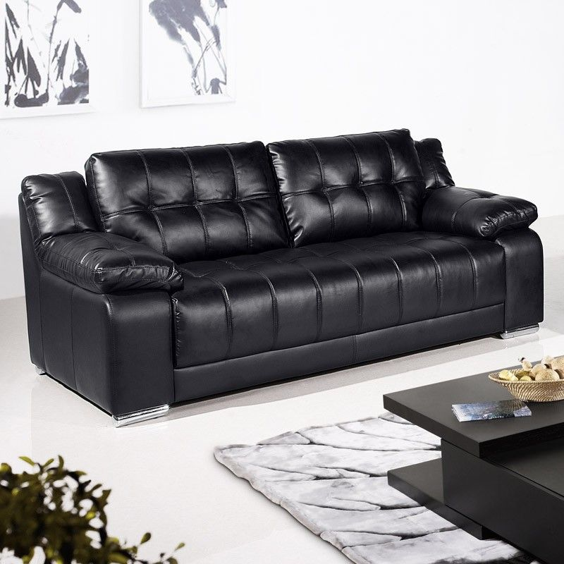 Black Leather Sofa Get Your Dream Affordable