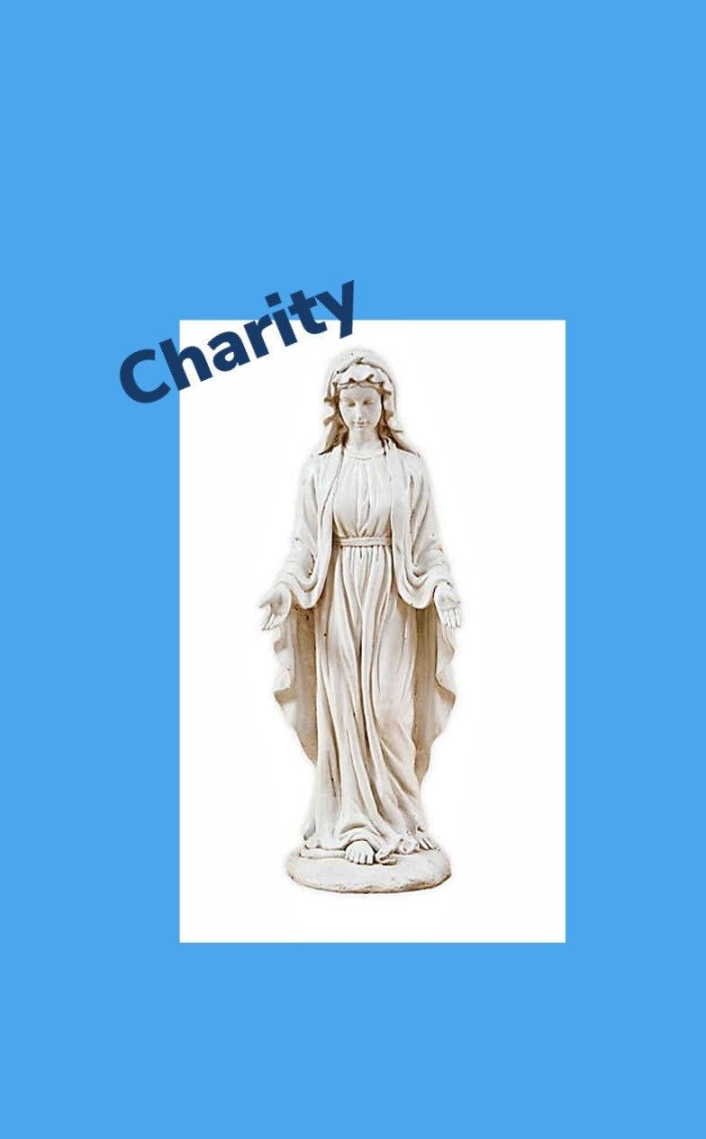 Statue of Blessed Virgin Mary is a perfect look for the garden or home. Virgin Mary Statue Blessed Mother Garden Sculpture Resin Religious Home Deco Enhance your home, garden or commercial property with decorative and authentic statuary. The Blessed Virgin Mary Statue is made of polyethylene plastic, but has a rich and textured sandstone appearance that makes it look realistic as concrete or cement. The hand crafted casting features a gentle and benevolent, Virgin Mary in flowing robes with arms