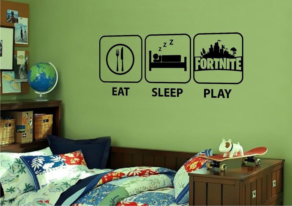 XBOX PS4 EAT SLEEP GAME Room Wall Art Decal Sticker