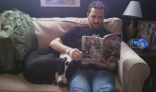 Wil Wheaton owns two rescued pit bulls, Seamus and Marlowe ...