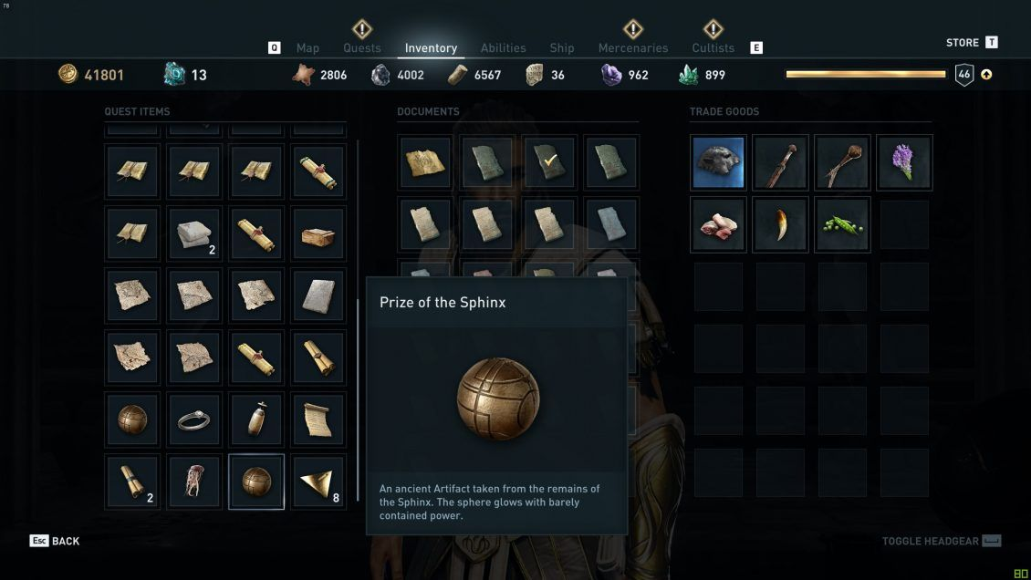 Assassin's Creed Odyssey Sphinx Puzzle All 12 Riddles and