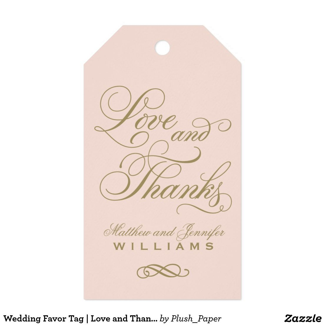 Wedding Favor Tag | Love and Thanks | wedding favor stickers ...
