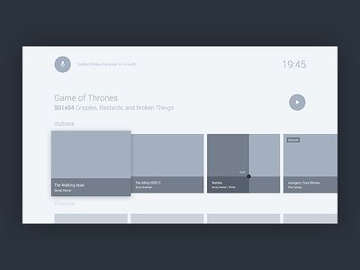 Wireframes - android tv practices | UI/UX | Wireframe, Web