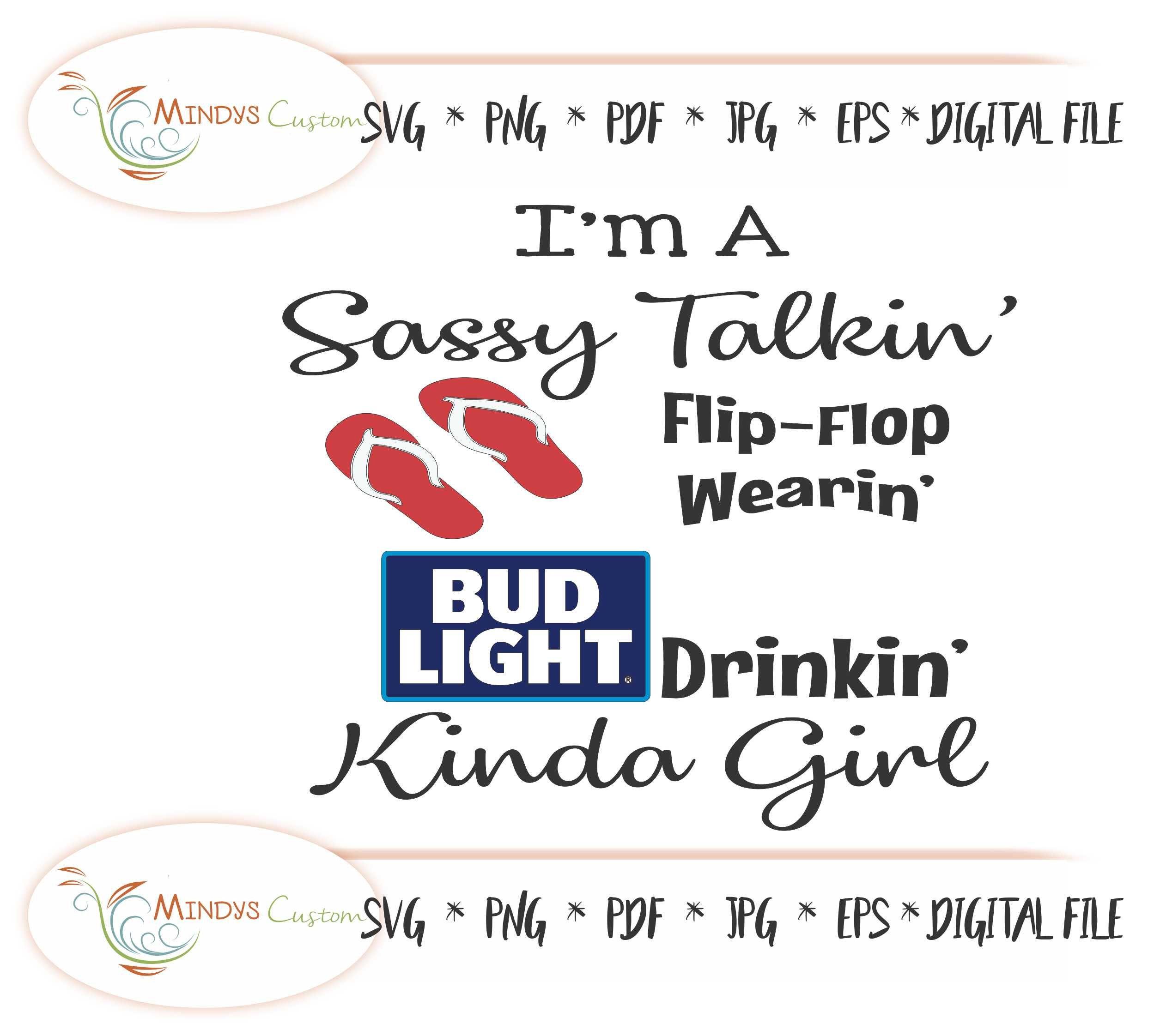 Bud Light Girl Bud Light SVG Bud Light T Shirt Flip Flop