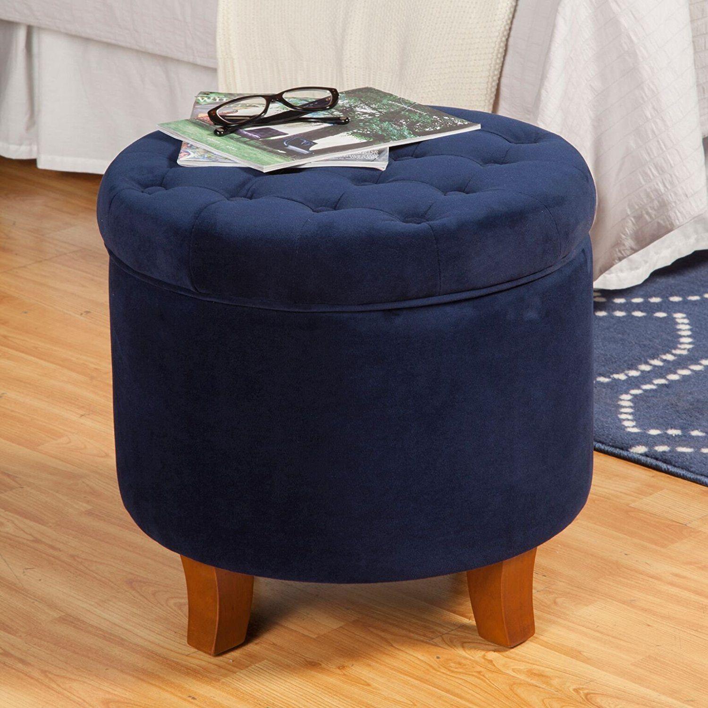Fabulous Amazonsmile Kinfine Velvet Tufted Round Storage Ottoman Pdpeps Interior Chair Design Pdpepsorg