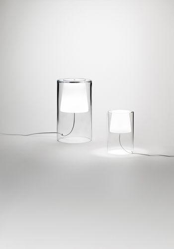 Lámpara de mesa en cristal