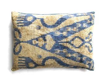 Uzbek Silk Velvet Ikat Pillow $129