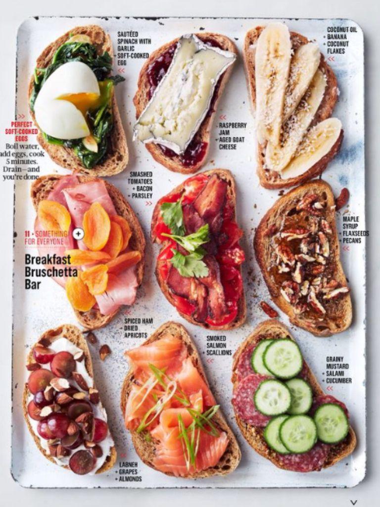 Bruschetta ideas. | Food recipes, Breakfast, Food