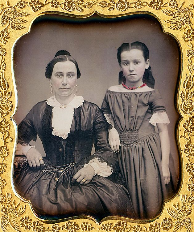 mother and daughter, 1850's